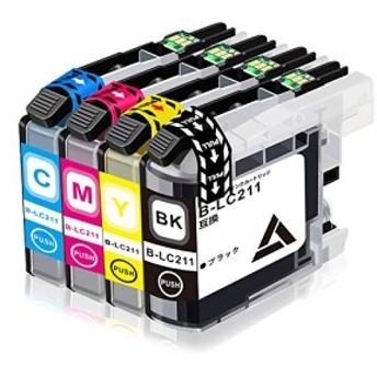 7Magic LC211-4PK 4色セット Brotherブラザー 大容量タイプ 最新版ICチップ 残量表示機能付 良質互換インクカートリッジ 【対
