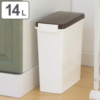 ゴミ箱 分別 臭わない 防臭 パッキン付き スリムペール 14L 幅17cm ( ごみ箱 分別 ダストボックス 縦型 プラスチック製 )