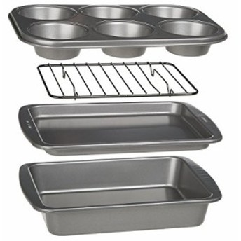 Ecolution Bakeins 4-Piece Toaster Oven Bakeware Set - PFOA BPA and PTF(新品未使用の新古品)