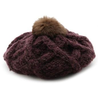 ベレー帽 - HusHusH ラビットファーベレー帽