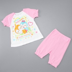 ベビー服 パジャマ 男の子・女の子半袖メッシュパジャマ【ベビー・子供服】 「ピンク」
