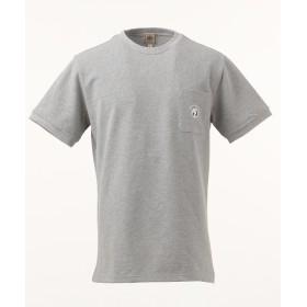 【オンワード】 J.PRESS MEN(ジェイ・プレス メン) 鹿の子エンブレム Tシャツ ライトグレー XL メンズ 【送料無料】