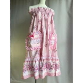 ピンクの花柄レース可愛い楽屋着