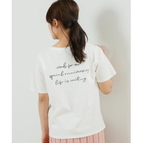 【48%OFF】 レイカズン 刺繍ロゴTシャツ レディース オフ白 FREE 【Ray Cassin】 【セール開催中】