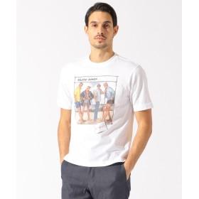 【オンワード】 DAKS(ダックス) 【125周年】マックス・ホフ イラスト Tシャツ ホワイト M メンズ 【送料無料】