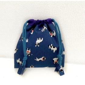 フレンチブルドッグ ミニ巾着 コップ袋
