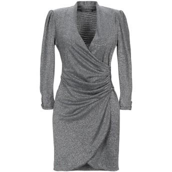 《セール開催中》SOALLURE レディース ミニワンピース&ドレス シルバー 42 ポリエステル 65% / ナイロン 30% / ポリウレタン 5%