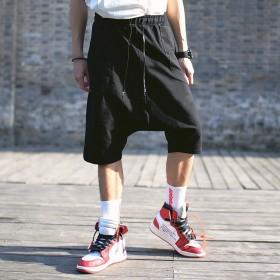 その他パンツ・ズボン - BIG BANG FELLAS 気分を変える メンズ サルエル七分丈パンツ ハーフパンツ スウェットパンツ メンズファッション モード モードストリート ストリート春 夏 サマー 個性 韓国 B系 スケーター ヒップホップ ダンス 衣装