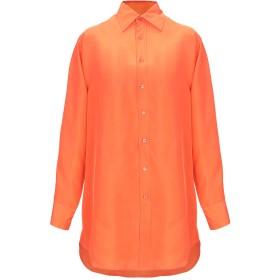 《期間限定セール開催中!》RALPH LAUREN BLACK LABEL レディース シャツ オレンジ 4 シルク 100%