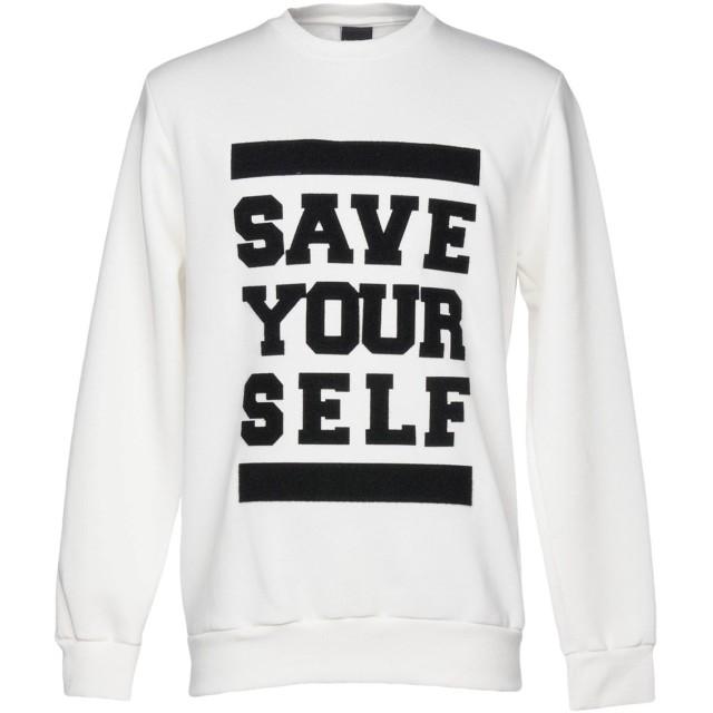 《期間限定セール開催中!》MADD メンズ スウェットシャツ ホワイト XL 100% コットン