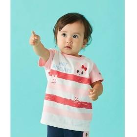 [マルイ]【セール】Tシャツ(ボーダー&ビーンズ・キャビット /袖配色)/ミキハウス ホットビスケッツ(MIKIHOUSE HOT BISCUITS)