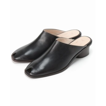 JOURNAL STANDARD 【Fot/フォート】 heel mules square:サンダル ブラック 38