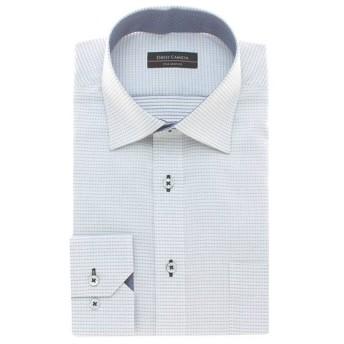 夏サラ形態安定スリムドレスシャツ(メンズ) クロ