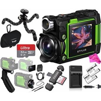 Olympus tg-tracker 4Kビデオスタイラスカメラアクションカメラ(グリーン)(中古良品)
