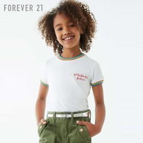 FOREVER21 フォーエバー21 【[KIDS]レインボーリンガーTシャツ】(5,000円以上購入で送料無料)