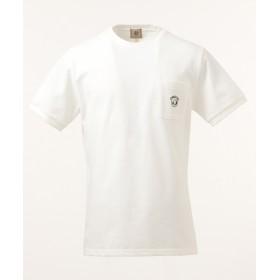 【オンワード】 J.PRESS MEN(ジェイ・プレス メン) 鹿の子エンブレム Tシャツ ホワイト XL メンズ 【送料無料】