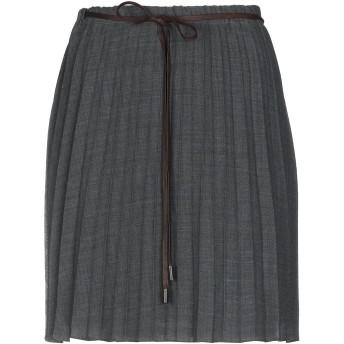 《9/20まで! 限定セール開催中》BRUNELLO CUCINELLI レディース ひざ丈スカート 鉛色 42 ウール 100%