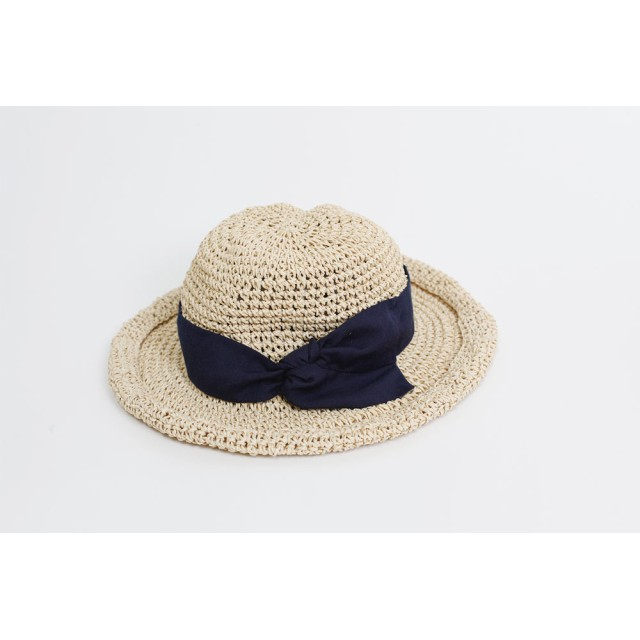 772f5ac945a1d5 麦わら・ストローハット・カンカン帽 - aimoha 手編みつば広ペーパーハット 麦わら帽子