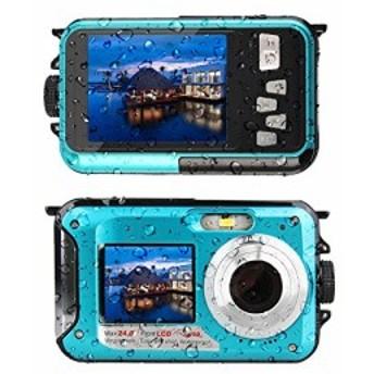 アクションカメラ 24MP 4K WiFi 防水カメラ スポーツカメラ 170度 超広角レ(新品未使用の新古品)