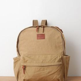 ウォッシュ加工キャンバスリュック ベージュ / washed canvas back pack beige
