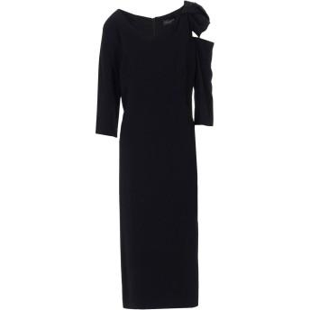 《セール開催中》MARIA GRAZIA SEVERI レディース 7分丈ワンピース・ドレス ブラック 40 レーヨン 96% / ポリウレタン 4%