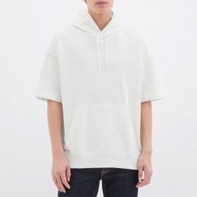 (GU)スーパービッグプルパーカ(5分袖) WHITE XL
