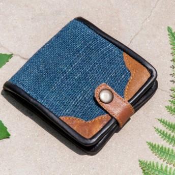 母の日バレンタインの日ギフト新年の贈り物国の風の森クリスマスギフト綿麻財布手作りの編まれた革短いクリップ短い財布小銭入れ財布 -