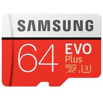 64GB Samsung サムスン microSDXCカード EVO Plus Class10 UHS-I R:最大100MB/s 海外リテール MB-MC64G/CN ◆メ