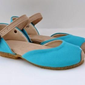 plie sandals (natural canvas)