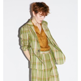 【トゥモローランド/TOMORROWLAND】 リネンコットンチェック テーラードジャケット