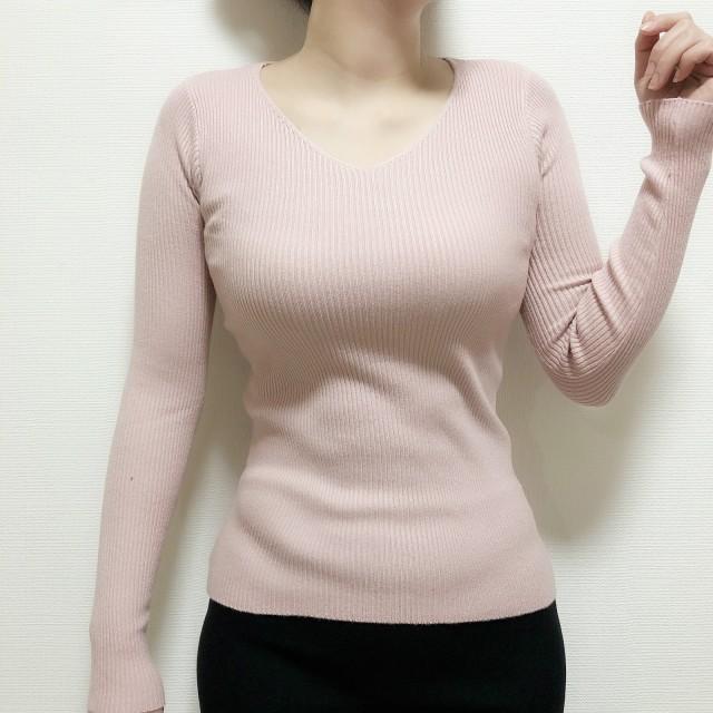 ニット・セーター - Beststore レディースファッション通販VトップスVネックニットオフィス薄いニットシンプル