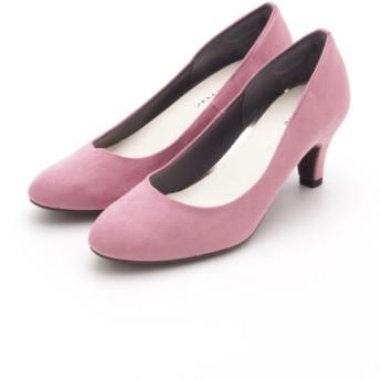MAX50%OFF JELLY BEANS (ジェリービーンズ) ラウンドトゥプレーンパンプスふわさら ピンクS