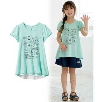 360度可愛いお花シフォンTシャツ(女の子 子供服。ジュニア服) Tシャツ・カットソー