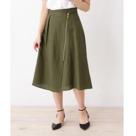 SOUP / スープ 麻混ジップフレアスカート