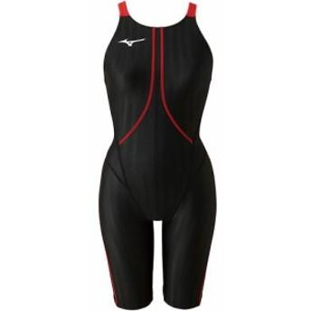 ミズノ(MIZUNO) レディース 競泳水着 AC ハーフスーツ ブラック×レッド N2MG822396 【女性用競泳水着 競技用 FINA承認】