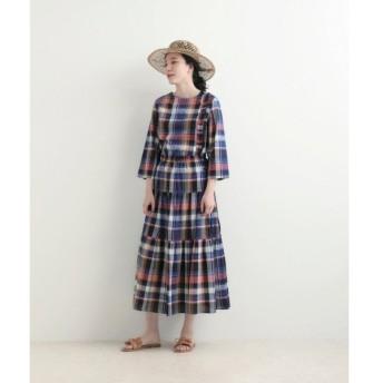 NIMES / ニーム マドラスチェック ティアードスカート