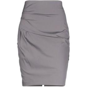 《期間限定 セール開催中》BRUNELLO CUCINELLI レディース ひざ丈スカート グレー 42 コットン 78% / ナイロン 17% / ポリウレタン 5%