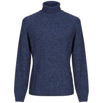 《セール開催中》BROWN'S メンズ タートルネック ブルー XS ウール 80% / ナイロン 20%