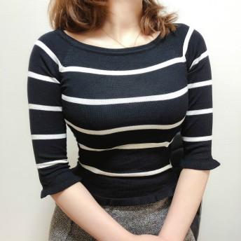 Tシャツ - Beststore レディースファッション通販ストライプ柄ロング丈Tシャツ トップス春夏