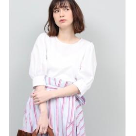 【ロペ マドモアゼル/ROPE madmoiselle】 ポプリンギャザー袖ブラウス