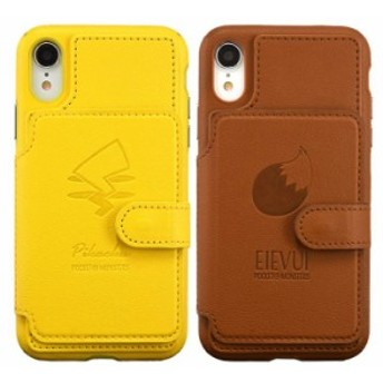 iPhone XR 対応 iPhoneXR ケース カバー ポケットモンスター カードフラップケース フラップカバー カード収納 カードポケット