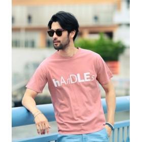 (JIGGYS SHOP/ジギーズショップ)ロゴピグメント加工Tシャツ/Tシャツ メンズ ティーシャツ 半袖 クルーネック/メンズ ピンク