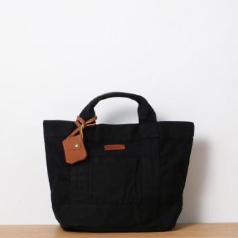 ウォッシュ加工キャンバスミニトート ブラック / washed canvas mini tote black