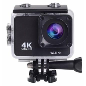 【SAC】4K アクションカメラ WiFi搭載 1600万画素 30M 防水カメラ 170度広 (新品未使用の新古品)