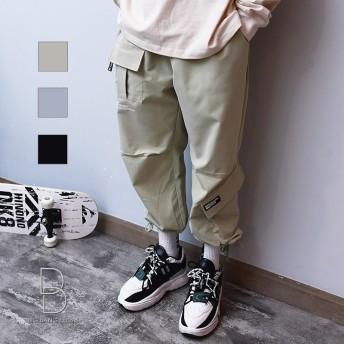 その他パンツ・ズボン - BIG BANG FELLAS スケーター必見パンツ メンズ スケーターパンツ 裾が絞れる バギーパンツ イージーパンツ 立体裁断 メンズファッション ストリート系カジュアル 春 夏 サマー HIPHOP ヒップホップ ハードコア スケート 韓国 韓流
