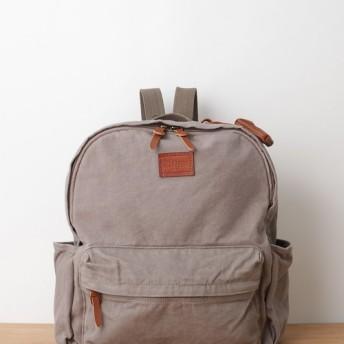 ウォッシュ加工キャンバスリュック グレー / washed canvas back pack grey