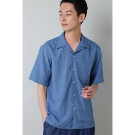 (TORNADO MART/トルネードマート)BLUE TORNADO∴トロワッシャーオープンカラー半袖シャツ/メンズ ブルー