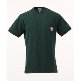 【オンワード】 J.PRESS MEN(ジェイ・プレス メン) 鹿の子エンブレム Tシャツ グリーン XL メンズ 【送料無料】