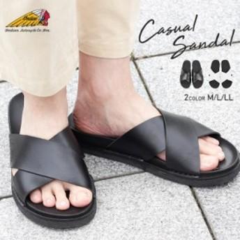 【送料無料】Indian ClayX サンダル メンズ おしゃれ ビーチサンダル 痛くない クロスベルト シャワーサンダル 履きやすい リラックス ビ