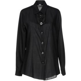 《期間限定セール開催中!》VERSUS VERSACE レディース シャツ ブラック 42 ウール 100%